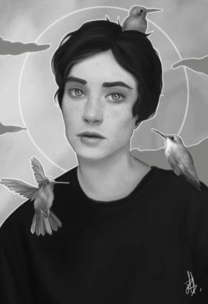 garçon aux oiseaux