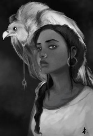 la fille au vautour